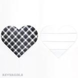 14.5x13x1.5 wd cutout (HEART) wh/bk