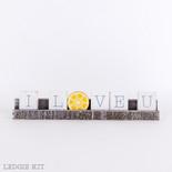 12x2.25x1 wd ledgie kit (I LOVE U) wh/bl/yl