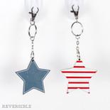 2.5x2.5x.25 rvs wd keychain (STAR) rd/wh/bl
