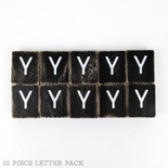 1.5x1.75x.25 wd letter tile s/10 (Y) bk/wh
