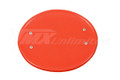 Number Plate Universal Oval RED with Mount Brackets