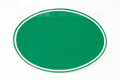 "Number Plate Decal Universal Oval 10""1/4 Green."