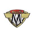"Tank Decal 71 Maico ""Man on Bike"" (pair)"
