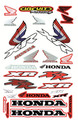 HONDA XR STICKER KIT SIZE: 565mm x 355mm RED