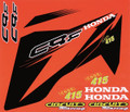 HONDA CRF STICKER KIT, RED FITMENT TEMPLATES TO SUIT: CRF150/230/250/450 SIZE: 500mm x 500mm