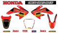 HONDA CRF70 STICKER KIT 07-13 SIZE: 565mm x 355mm