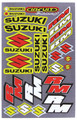 SUZUKI RM STICKER KIT SIZE: 565mm x 355mm