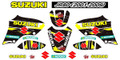 SUZUKI JR80 SUZUKI STICKER KIT 2001 - 2009 SIZE: 555mm x 400mm