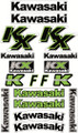 KAWASAKI KX STICKER KIT SIZE: 565mm x 355mm