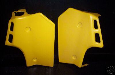 1984//1985 Suzuki RM 250 Radiator Shrouds Yellow