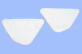 Side Panel Set 75 YZ250/360B plastic white satin