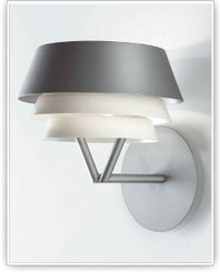 Tango Lighting Gala Wall Light in Metallic Grey - Open Box
