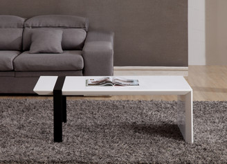 Director Coffee Table in White and Black Steel by B-Modern