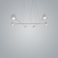 Zaneen Spider White 6-Lights Ceiling