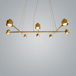 Zaneen Spider Brass 8-Lights Ceiling