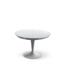Ozzio Eclipse Extra White Gloss Dining Table