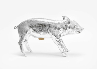 Areaware Reality Bank in Form of Pig Silver Chrome