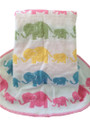Elephants Knit Blanket (Pastels)