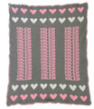 Hearts Knit Blanket (Pearl Gray)