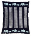 Personalized Elephant Knit Blanket (Navy Blue)