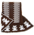Personalized Bear Knit Blanket (Chocolate)