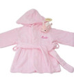 Velour Terrycolth Bathrobe:pink