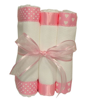 Burp cloths:pink