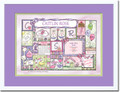 Patchwork Girl Birth Certificate Art (Lilac)