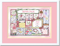 Patchwork Girl Birth Certificate Art (Pastel)