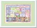 Patchwork Boy Birth Certificate Art Twins