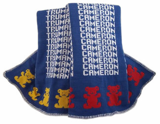 Personalized Bear Knit Blankets