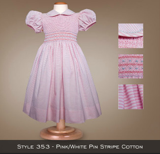 Spring Collection Pink/White Pin Stripe Cotton 353