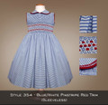 Spring Collection Blue/White Pin Stripe Red Trim (sleeveless) 354