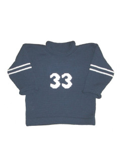 Personalized Varsity Sports Pullover Number in Front