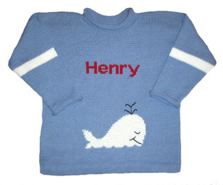 Personalized Whale Pullover