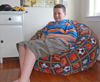 37 inch large bean bag with 11 year old