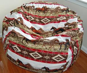 "37"" Southwest Horses Fleece"