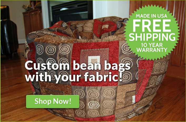Bean bag chairs - Custom made with your fabric!