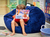 Autistic kids retreat to comfy bean bag chairs