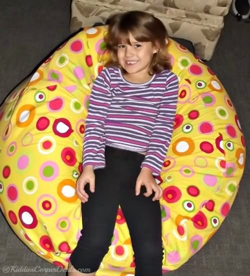 bubbly citrus kids bean bag chairs