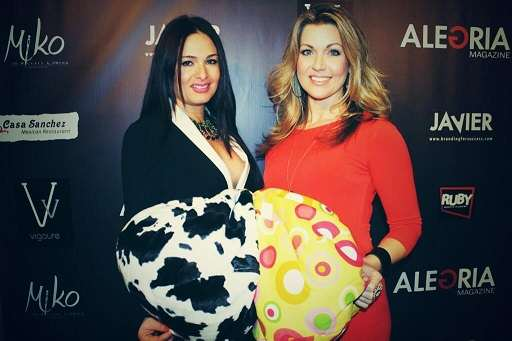 Kelly V Dolan Donates Ahh! Bean Bags at Alegria Magazine Event
