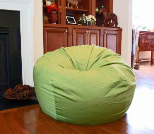 Organic Cotton Lime Bean Bag Chair