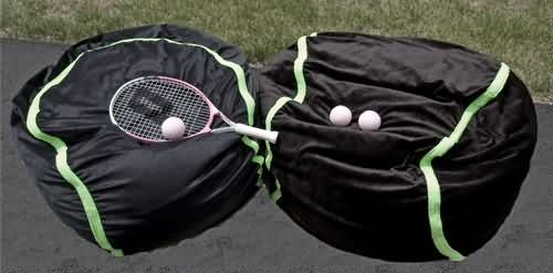 Tennis ball bean bag chairs