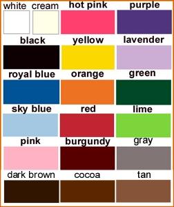 Personalization thread colors