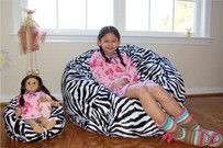 "14"" Wide 'LiL Me' Doll Bean Bag & 37"" Wide People Bean Bag"