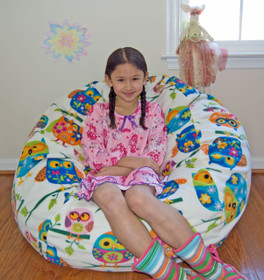 "37"" Pretty Owls Fleece with 9 year old Model"