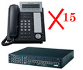 PANASONIC KX-NCP500-DT15 NCP Bundle including (1) NCP500, (1) NCP1172 and (15) DT343-B, Part No# KX-NCP500-DT15