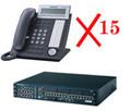 PANASONIC KX-NCP500-NT15 NCP Bundle including (1) NCP500, (1) TDE0110 and (15) NT343-B, Part No# KX-NCP500-NT15