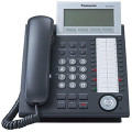 PANASONIC KX-NT346-B IP 6-Line LCD 24CO, SP Phone, Black, Part No# KX-NT346-B