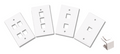 3 Port Wall Plate Kit w/ 2 x Blank Keystones - White Part#125-1517-WT